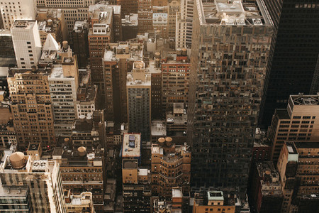 Aerial view cityscape New York USA
