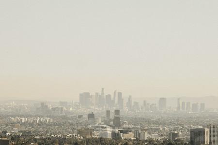 Sunny cityscape Los Angeles California USA