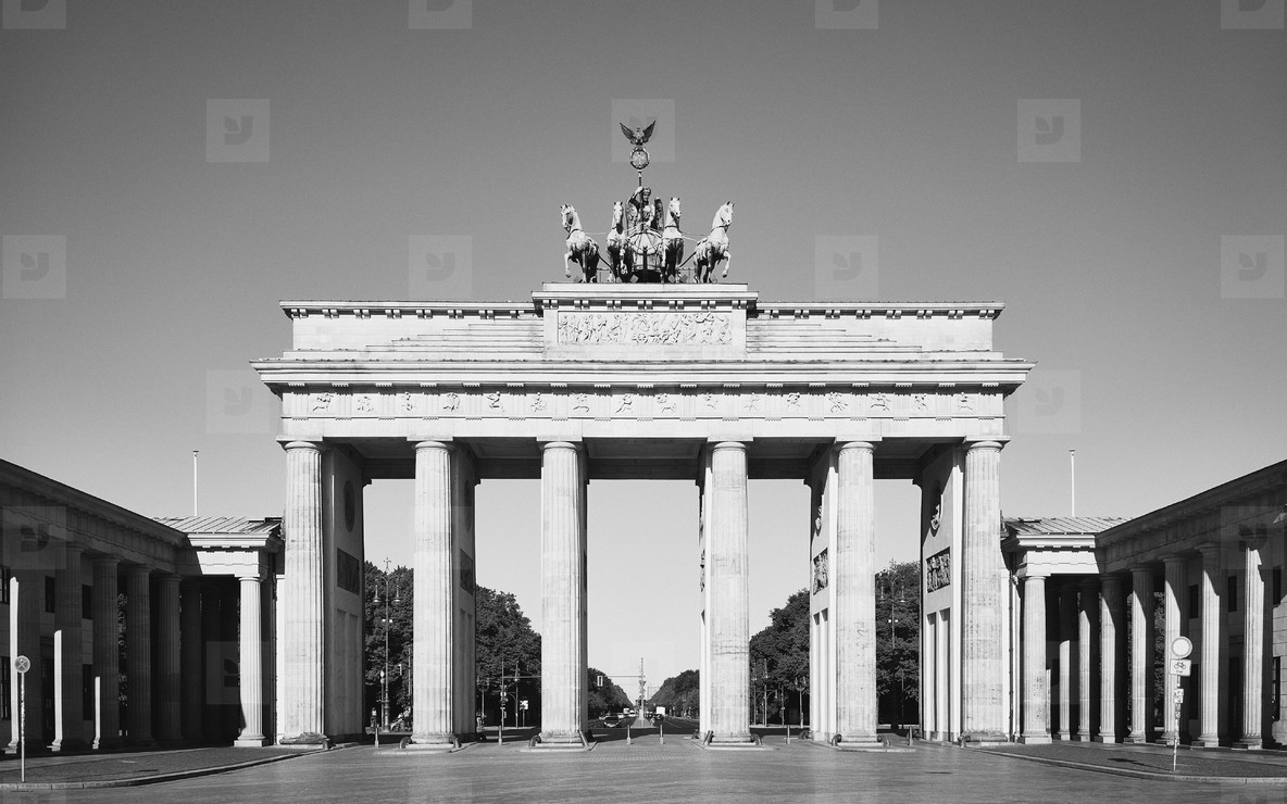 Sunny Brandenburg Gate Berlin Germany