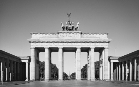 Sunny Brandenburg Gate Berlin Germany
