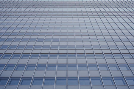 Low angle view highrise office windows Duesseldorf Germany