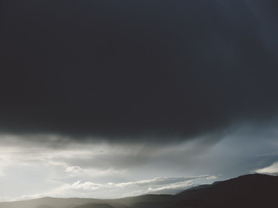 Dramatic clouds in stormy sky