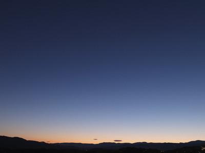 Sunset blue and orange sky
