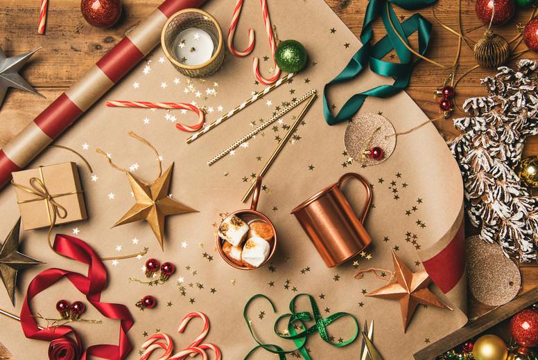 Christmas festive mood  Hot chocolate and Christmas decoration