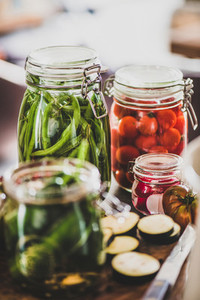 Autumn vegetable pickling and canning Ingredients for cooking