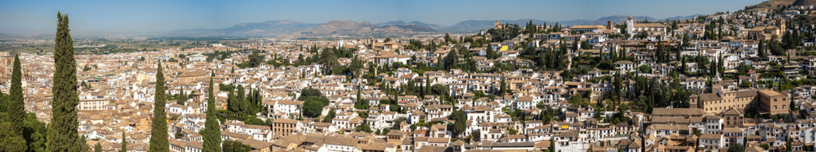 Albayzin district of Granada  Spain  from the towers of the Alhambra
