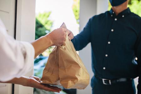 Delivering online order during coronavirus lockdown