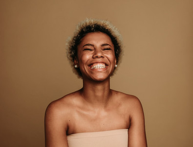 Portrait of smiling african american female