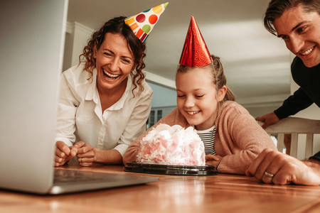 Birthday party at home during pandemic lockdown