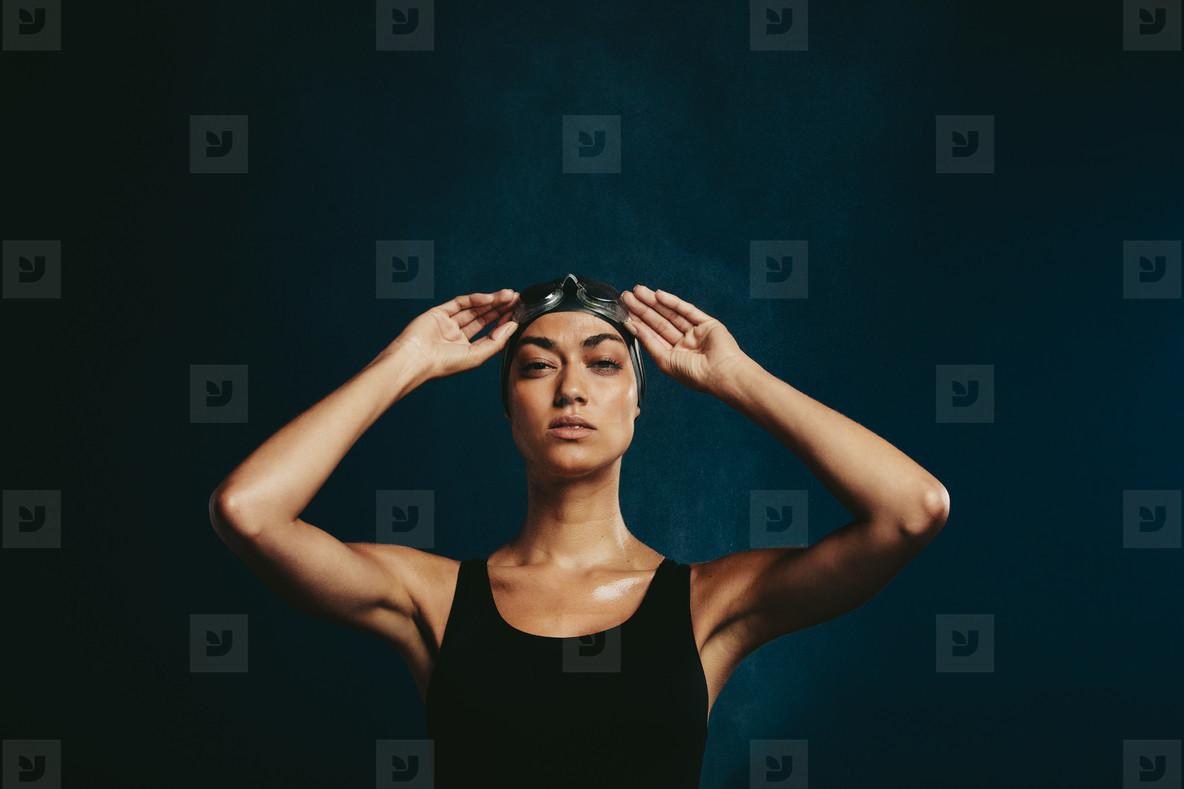 Fit woman in swimwear