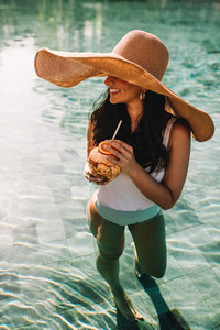 Woman on a luxury holiday
