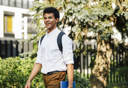 Young smiling male student