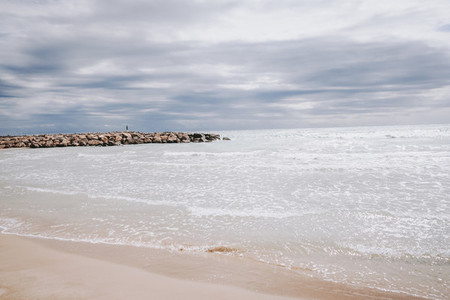 Beautiful seascape in Canet de Berenguer  Valencia