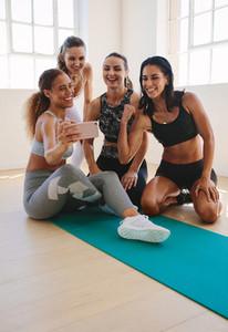 Women enjoying after workout