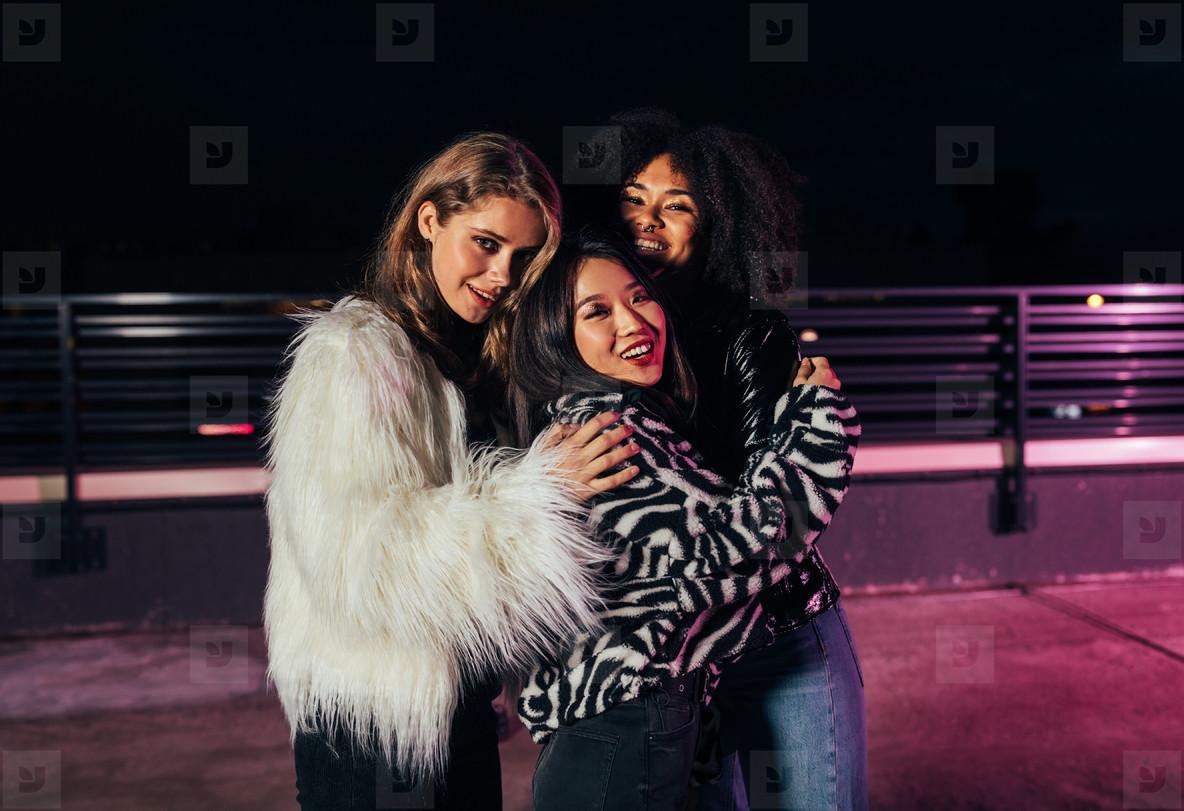 Three beautiful girlfriends