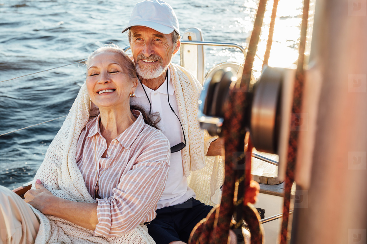 Happy mature couple enjoying