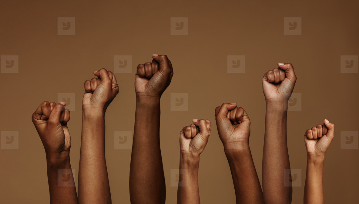 Fists raised for equality