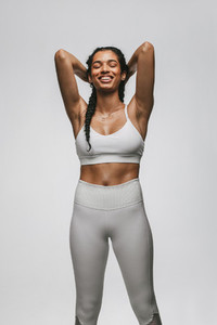 Portrait of smiling fitness woman