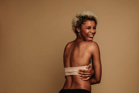 Cheerful african american woman