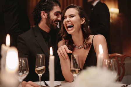 Couple enjoying together at gala party