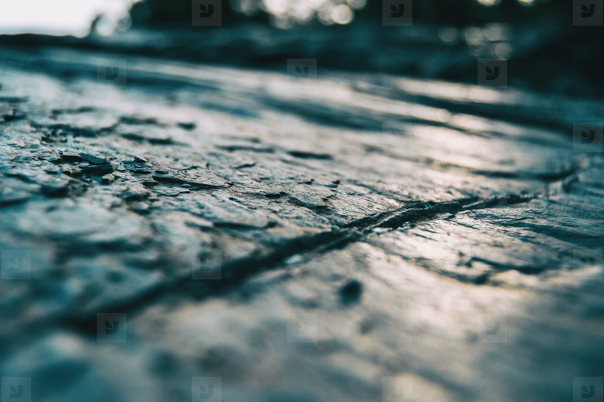Macro of gray stone floor texture