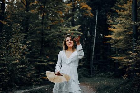 Beautiful women during fall 14