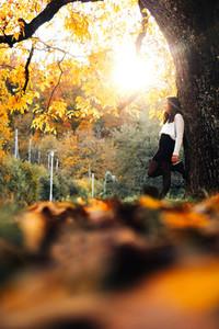 Beautiful women during fall  1