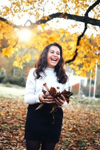 Beautiful women during fall  13