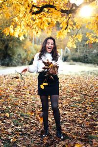Beautiful women during fall  12