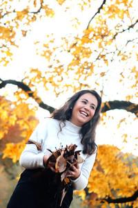 Beautiful women during fall  11