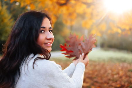 Beautiful women during fall  10