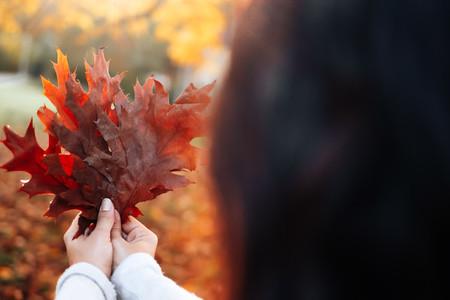 Beautiful women during fall  9