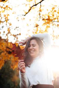 Beautiful women during fall  8