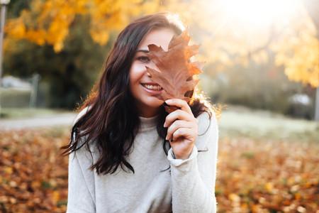 Beautiful women during fall  5