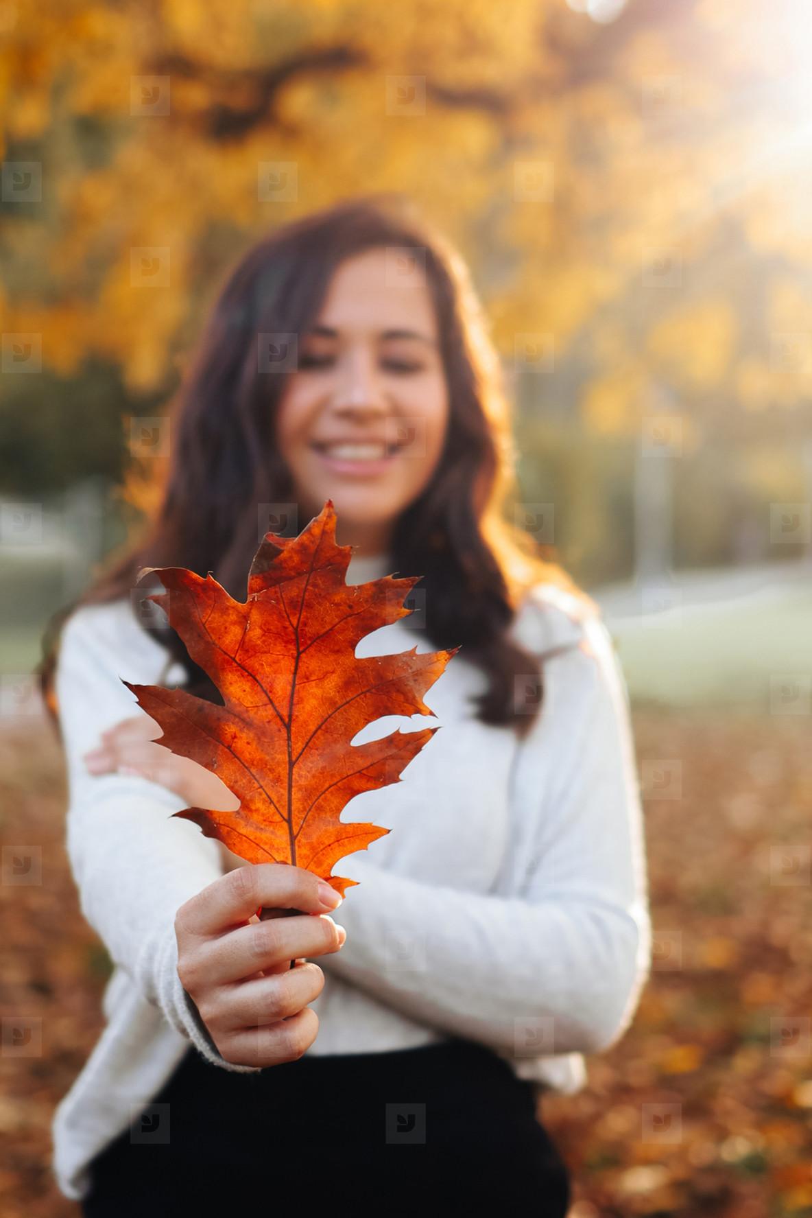 Beautiful women during fall  4