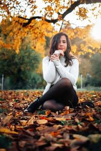 Beautiful women during fall  2