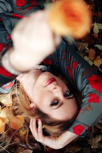 Beautiful girl during fall  12