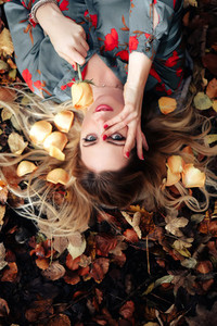 Beautiful girl during fall  10