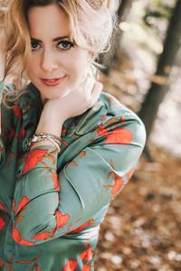 Beautiful girl during fall  9