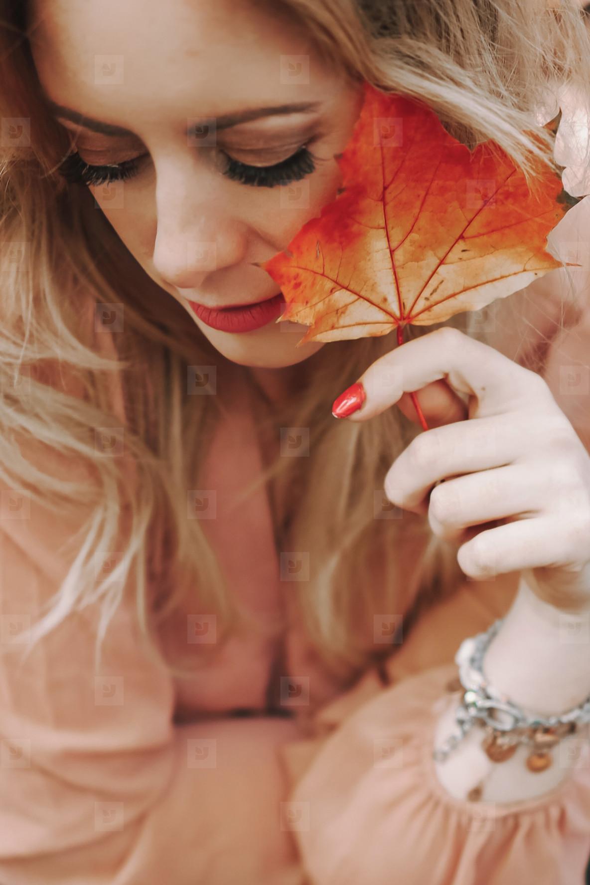 Beautiful girl during fall  6