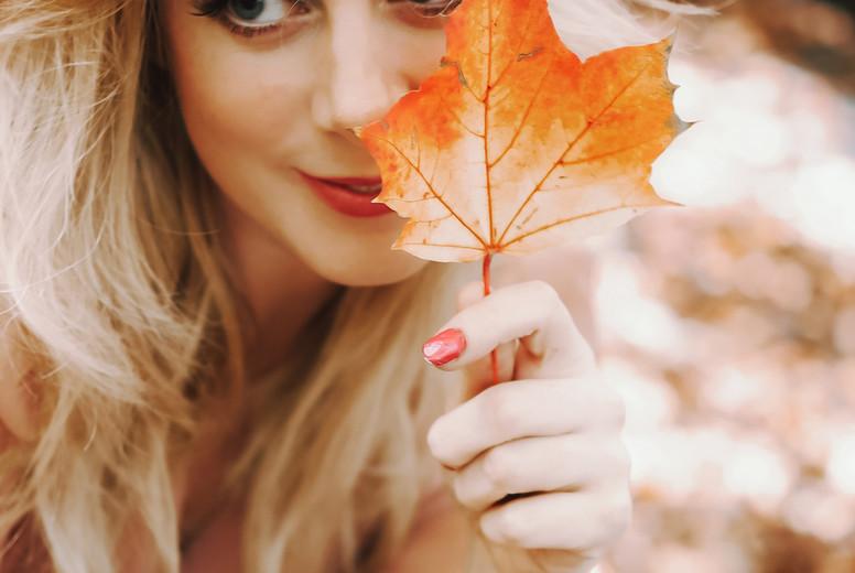 Beautiful girl during fall  5