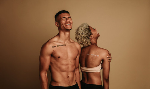 Portrait of smiling african american couple
