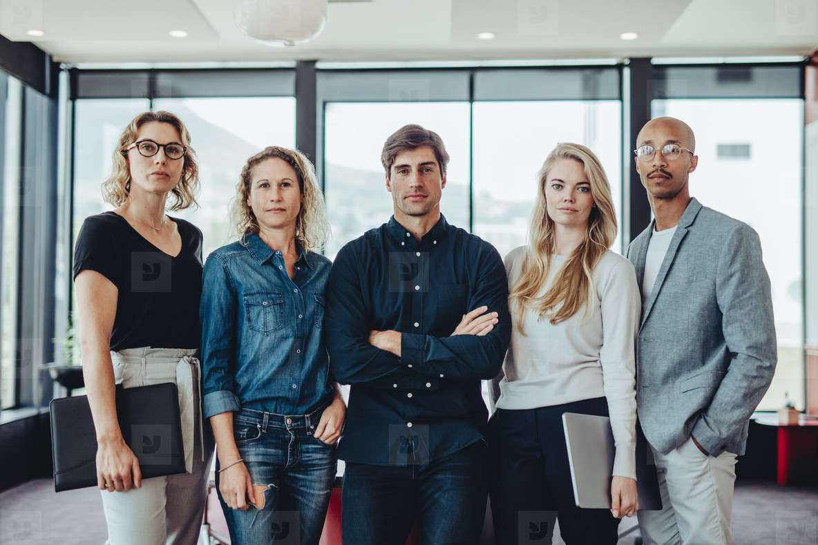 Portrait of a diverse business team in office