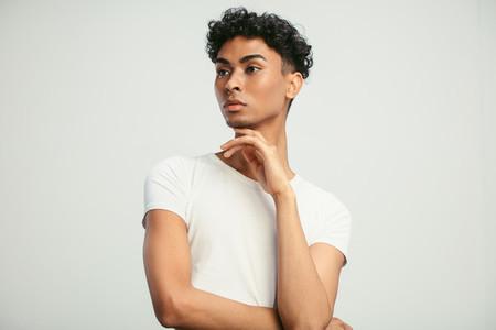 Man with feminine looks