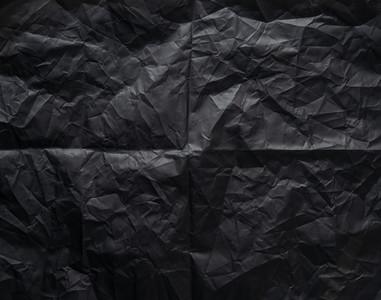 Black a  crumpled paper texture