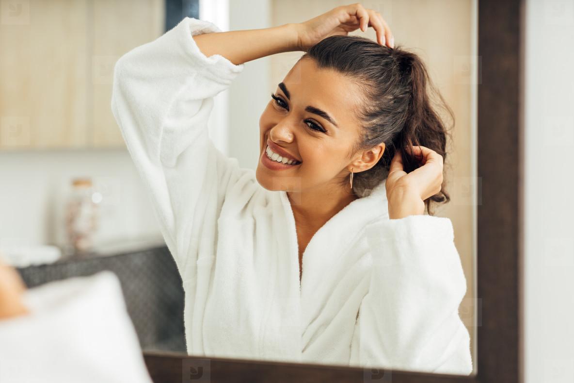 Beautiful smiling woman wearing