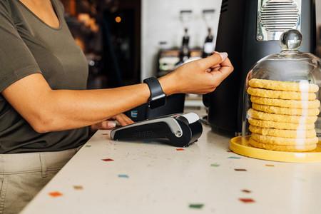Customer paying