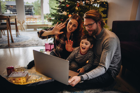 Video call with family on Christmas day