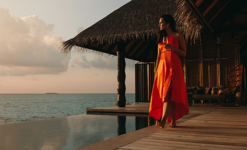 Memorable tropical vacation on an overwater villa
