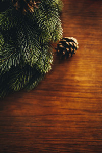 Christmas decoration on a table top